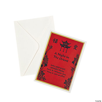 Personalized Far East Fantasy Invitations