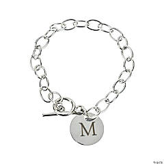 Personalized Circle Disk Charm Bracelet