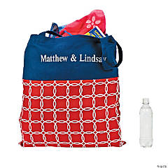 Personalized Nautical Tote