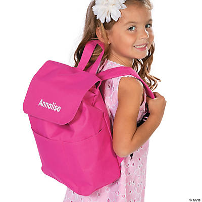 Personalized Pink Backpack
