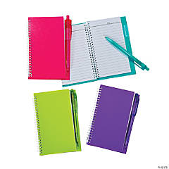 Neon Spiral Notebook & Pen Sets