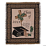 "Personalized ""Class Of 2013"" Religious Graduation Throw"