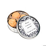 Personalized Black & White Wedding Cookie Tins