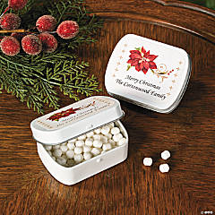 Poinsettia Tins With Mints