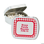 Personalized Red Gingham Mint Tins