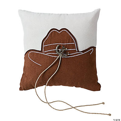 Rustic Western Wedding Ring Pillow