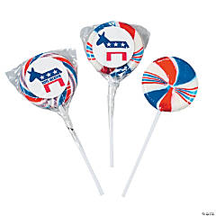 Personalized Democratic Swirl Pops