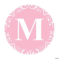 Light Pink Personalized Monogram Wedding Favor Stickers