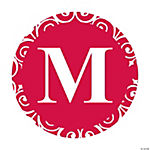 Red Personalized Monogram Wedding Favor Stickers