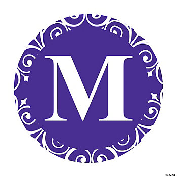 Purple Personalized Monogram Wedding Favor Stickers