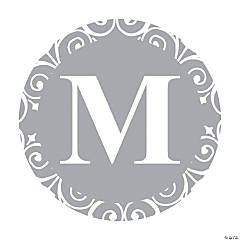 Silver Personalized Monogram Wedding Favor Stickers