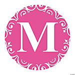 Hot Pink Personalized Monogram Favor Stickers