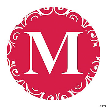 Red Personalized Monogram Favor Stickers