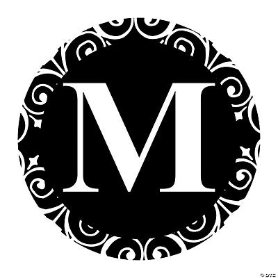 Black Personalized Monogram Favor Stickers