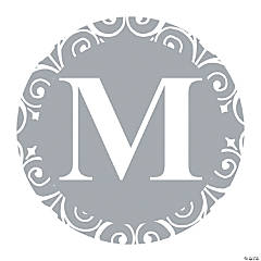 Silver Personalized Monogram Favor Stickers