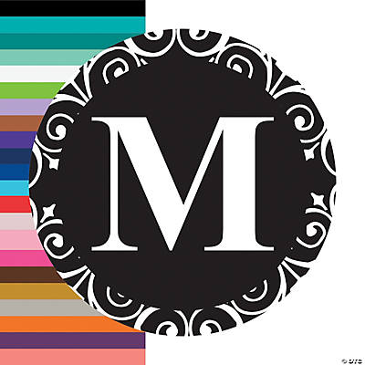 Black Personalized Monogram Wedding Favor Stickers