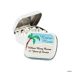 "Personalized ""Retire Mints"" Mint Tins"