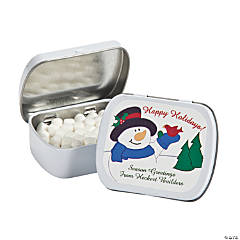 Personalized Snowman Mint Tins