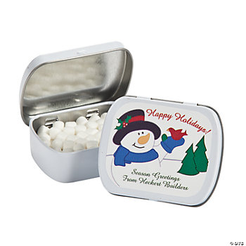Holiday Mint Tins with Personalized Stickers