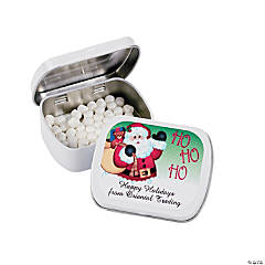 Personalized Santa Mint Tins with Stickers