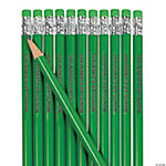 Personalized Green Pencils