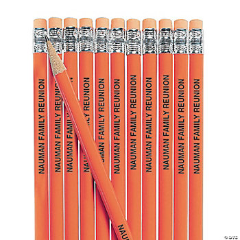 Personalized Orange Pencils