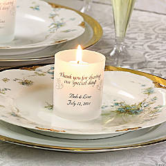 """Share Our Day"" Wedding Votive Holders"