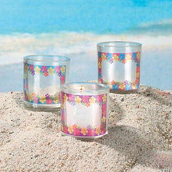 Luau Votive Stickers