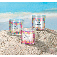 Personalized Luau Votive Holders