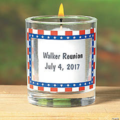 Personalized Patriotic Votive Holders