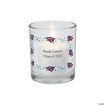 Personalized Graduation Votive Holders