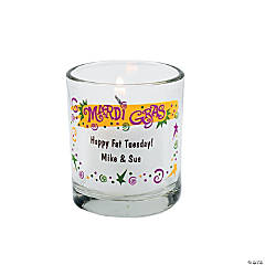 Personalized Mardi Gras Votive Holders