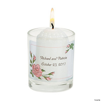 Personalized Floral Votive Holders