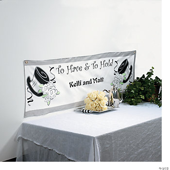"""To Have And To Hold"" Wedding Banner"