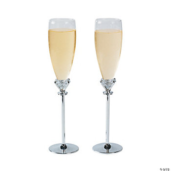 Personalized Diamond Champagne Goblets