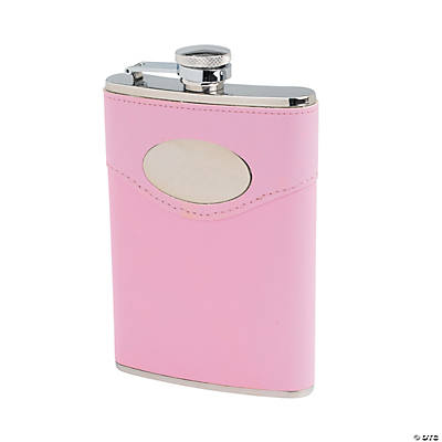 Personalized Flask with Pink Cover