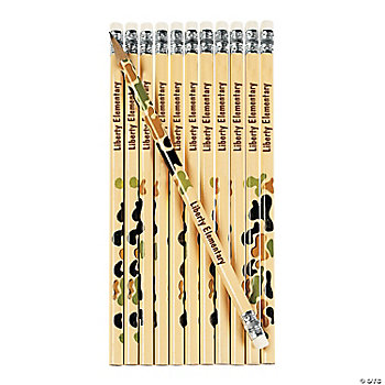 Personalized Camouflage Pencils