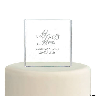"Personalized ""Mr. & Mrs."" Cake Topper"