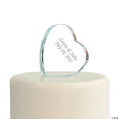 Personalized Heart Cake Topper