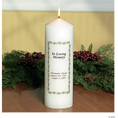 Personalized Memorial Holiday Candle