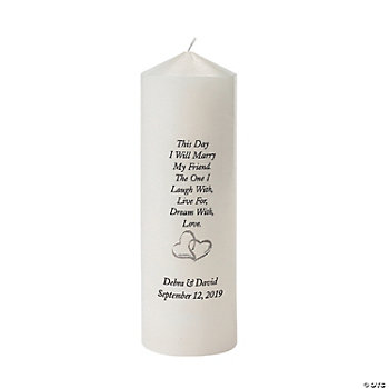 "Personalized ""I Will Marry My Friend"" Candle"