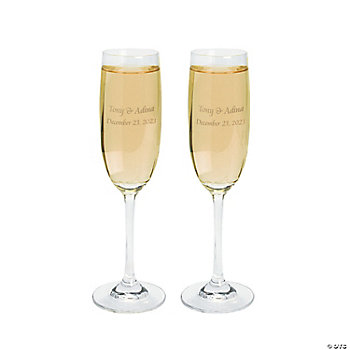 personalized wedding flutes oriental trading