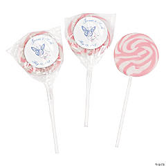 Personalized Spring Pink Swirl Pops
