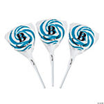 Personalized Monogram Swirl Pops - Light Blue