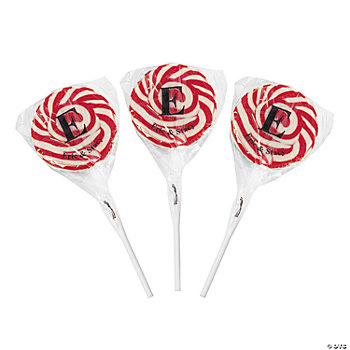 Personalized Monogram Swirl Pops - Red