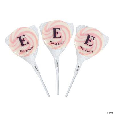 Personalized Monogram Swirl Pops - Pink