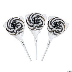 Personalized Monogram Swirl Pops - Black & White