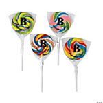 Personalized Monogram Rainbow Swirl Pops
