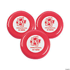 Personalized Red Team Spirit Flying Disks