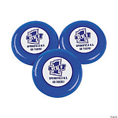 Personalized Blue Team Spirit Flying Disks